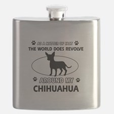 Chihuahua Dog Awesome Designs Flask