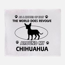 Chihuahua Dog Awesome Designs Throw Blanket