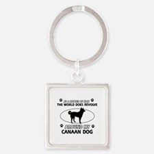 Canaan Dog Awesome Designs Square Keychain