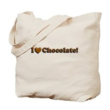I Heart CHOCOLATE Tote Bag