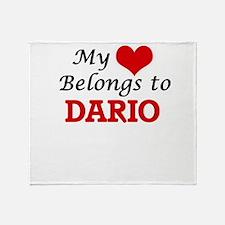 My heart belongs to Dario Throw Blanket