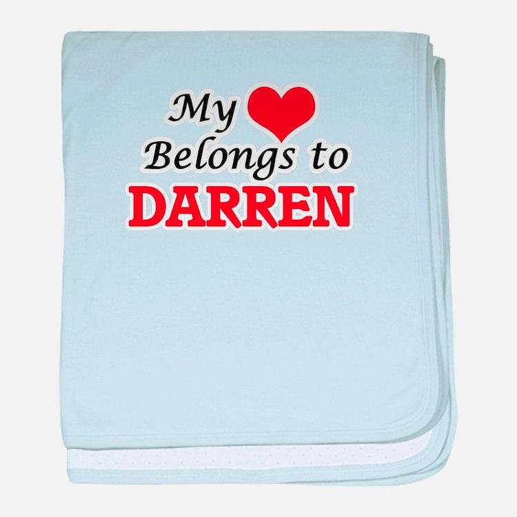 My heart belongs to Darren baby blanket