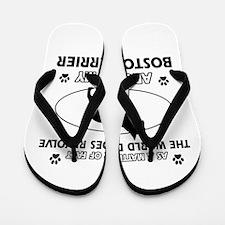 Boston Terrier Dog Awesome Designs Flip Flops