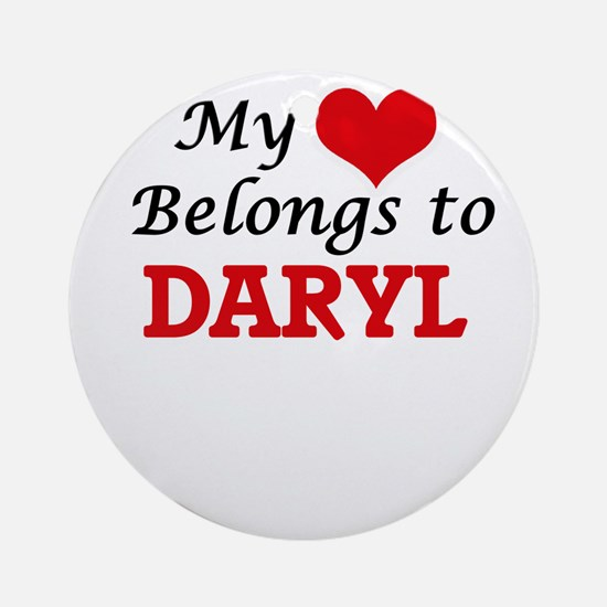 My heart belongs to Daryl Round Ornament