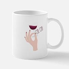Wine Glass Toast Mugs