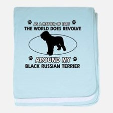 Black Russian Terrier Dog Awesome Des baby blanket