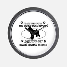 Black Russian Terrier Dog Awesome Desig Wall Clock