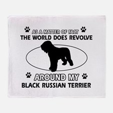 Black Russian Terrier Dog Awesome De Throw Blanket