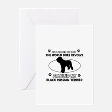 Black Russian Terrier Dog Awesome De Greeting Card