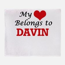 My heart belongs to Davin Throw Blanket