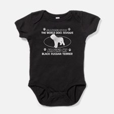Black Russian Terrier Dog Awesome De Baby Bodysuit
