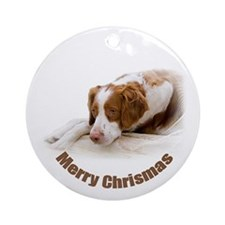Brittany Christmas Ornament (Round)