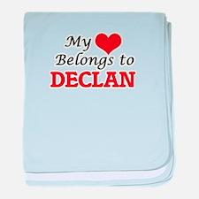My heart belongs to Declan baby blanket