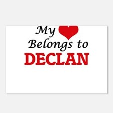 My heart belongs to Decla Postcards (Package of 8)