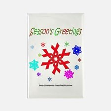 Red Ribbon Snowflake Rectangle Magnet