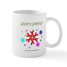 Red Ribbon Snowflake Mug