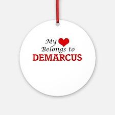 My heart belongs to Demarcus Round Ornament