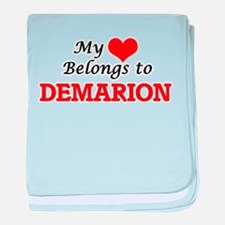 My heart belongs to Demarion baby blanket