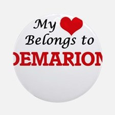 My heart belongs to Demarion Round Ornament