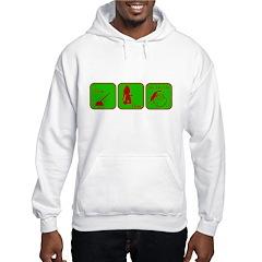 Hoe, Hoe, Ho Hooded Sweatshirt