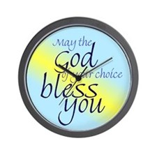 God of choice, bless you Wall Clock