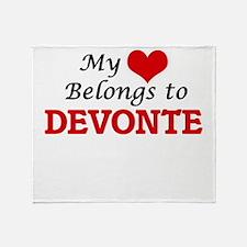 My heart belongs to Devonte Throw Blanket