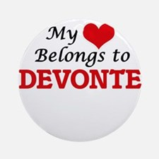 My heart belongs to Devonte Round Ornament