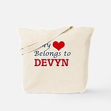 My heart belongs to Devyn Tote Bag