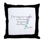 Gandhi Quote Throw Pillow