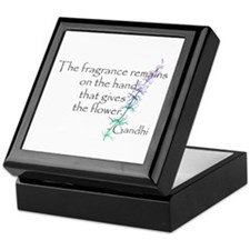 Gandhi Quote Keepsake Box