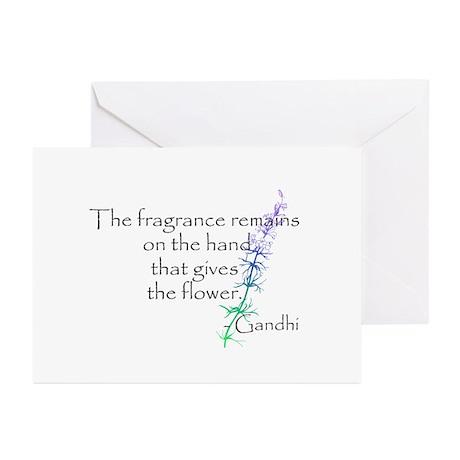 Gandhi Quote Greeting Cards (Pk of 10)