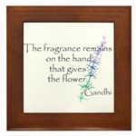 Gandhi Quote Framed Tile