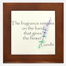 Gandhi Quote Framed Tile