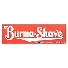 Burma-Shave Bumper Bumper Sticker