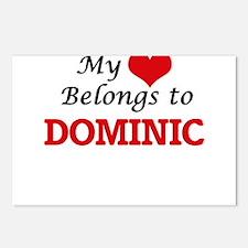 My heart belongs to Domin Postcards (Package of 8)
