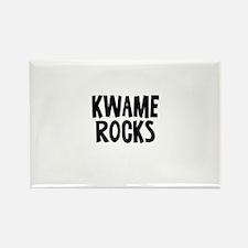 Kwame Rocks Rectangle Magnet