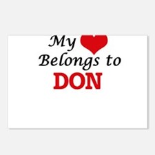 My heart belongs to Don Postcards (Package of 8)