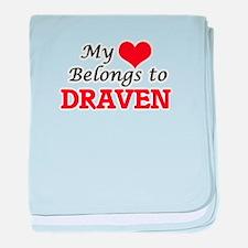 My heart belongs to Draven baby blanket