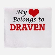 My heart belongs to Draven Throw Blanket