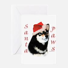 Shiba(blk) Paws Greeting Card