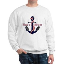 Navy Mom Anchor Sweatshirt