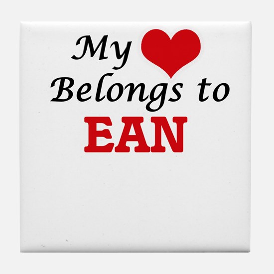 My heart belongs to Ean Tile Coaster