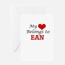 My heart belongs to Ean Greeting Cards
