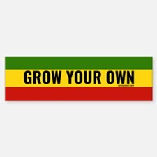 Rasta Grow Your Own Bumper Bumper Bumper Sticker