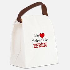 My heart belongs to Efren Canvas Lunch Bag
