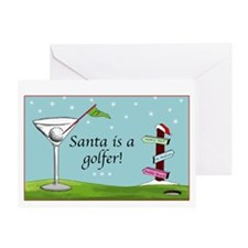 Santa is a golfer - Greeting Card