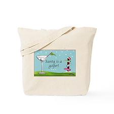 Santa is a golfer - Tote Bag