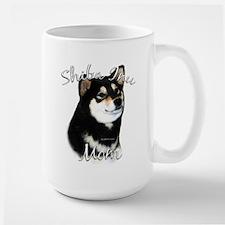 Shiba(blk) Mom2 Large Mug