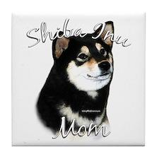 Shiba(blk) Mom2 Tile Coaster