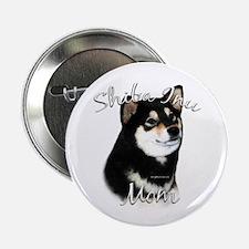 "Shiba(blk) Mom2 2.25"" Button (100 pack)"